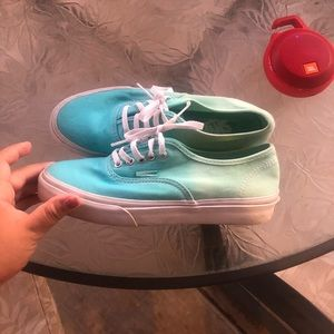 Authentic blue/green ombré van